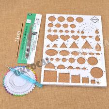 Carta Quilling Temlated Kit FAI DA TE carta Attrezzo Artigianato Plastica