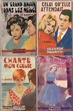 LOT de 4 ROMANS SENTIMENTAUX COLLECTION PAQUERETTE - 1961 - ED LUTECE