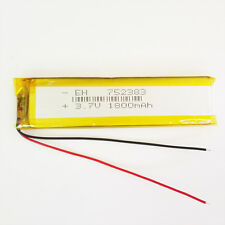 3.7V 1800mAh Li Po Polymer ion Battery For bluetooth psp gps mobile phone 752383