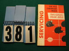 1955 Chevrolet Factory Original Truck Two-Speed Rear Axle Manual (381)
