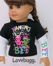 "Bff Partying T Shirt Clothes for 18"" American Girl Doll Widest Selection Online!"