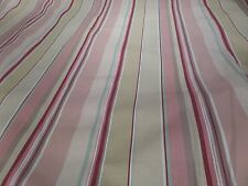 Laura Ashley Pink Rosette Stripe Curtain fabric 14 metres available @£14.99 pm
