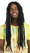 LONG RASTA DREADLOCKS JAMAICAN BOB MARLEY REGGAE FANCY DRESS COSTUME BLACK WIG