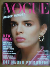 VOGUE GERMANY 3 - 1986 Annette von Klier Leder-Look City-Stil Jacken Beauty