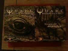 The Official Quake Mission Packs 1 and 2 Big Box PC Games - rare and in vgc