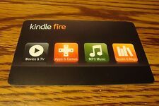 Kindle Fire Gift CARD NO VALUE-Never Used or Activated Collectable  New 2013