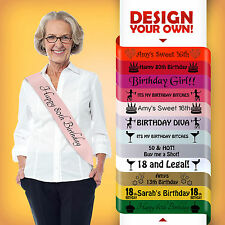 60th BIRTHDAY 60 TODAY PARTY GIFT PRESENT SASH DECORATION ALL COLOURS CHEAP