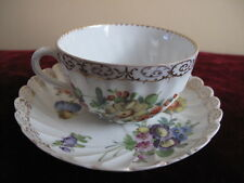 Antique 19th German Dresden Porcelain Cup & Saucer Richard Klemm Hand Painted