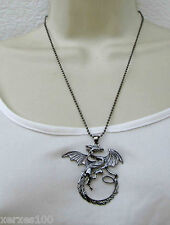 SALE. WICCAN Dragon  Pendant Chain Necklace. UK SELLER freepost  WITCH