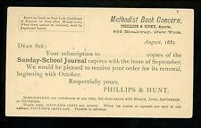 Advertising Postcard New York NY Religion Methodist Book Literature School 1885