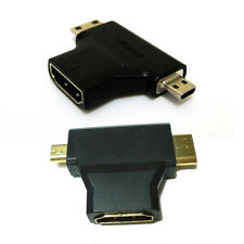 Micro & Mini HDMI to HDMI Combo Adaptor HDTV 1080p Full HD TYPE D C A Tablet PC