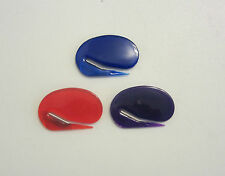 3 ENVELOPE LETTER OPENERS RED BLUE PURPLE CONTOUR OPENER WITH CONCEALED BLADE