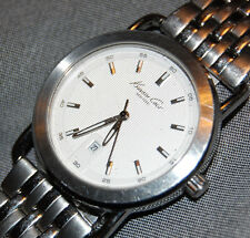 Kenneth Cole New York Men's KCC3809 White Date Stainless Watch New Battery!