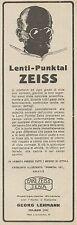 Z3012 Lenti-Punktal ZEISS - Pubblicità d'epoca - 1923 old advertising