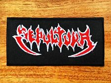 SEPULTURA PATCH Embroidered Iron On Thrash Metal Logo Badge Schizophrenia