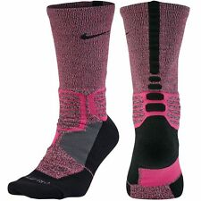 NIKE Hyper Elite Crossover Basketball Crew Socks sz XL X-Large (12-15) Pink NEW