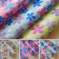 Floral Fabric Dress Craft Polycotton Prints Children's Material Pink Blue Daisy
