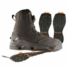 SIZE 8 KORKERS DEVILS CANYON WADING FISHING BOOT STUDDED+ KLING-ON RUBBER SOLES