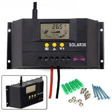 30A Solar Panel Charge Controller Regulator 12V 24V AUTO 360W/720W For LED Light