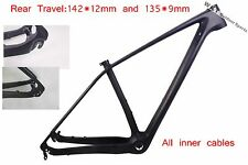 Carbon Cycling 29ER Mountain Bike Frame  MTB Bicycle Frame Size15/17/19 142*12mm