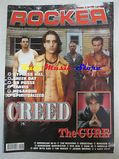 rivista ROCKER 5/2001 Creed Cure 99 Posse Meganoidi Green Day Spiritualized Nocd
