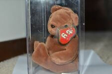 Authenticated TY beanie baby Teddy Old Face Brown 1st gen true blue beans rare