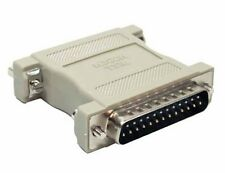 C2G / Cables to Go 02469 DB25 Male/Female Null Modem Adapter (Beige)