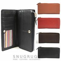 Ladies Large Soft Nappa Leather Matinee Purse with Multiple Credit Card Slots