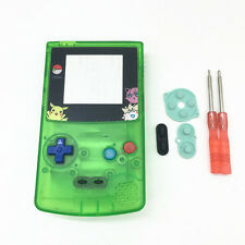 PS Green Housing Shell Case+Screwdrivers+Pads Set for Nintendo Gameboy Color GBC