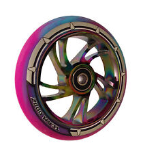 Team Dogz Rainbow Neo Chrome 120mm Scooter Alloy Wheels Mixed 88A PU Purple Blue