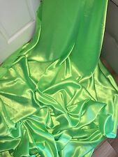 "1 MTR LIME GREEN LINING SATIN FABRIC...58"" WIDE"