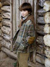 BNWT Beautiful Designer OSCAR DE LA RENTA Boys Plaid Wool Jacket Size 8,10 or 12