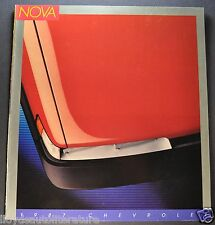 1987 Chevrolet Nova Catalog Brochure CL Sedan Hatchback Excellent Original 87