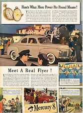 Vintage 1941 Magazine Ad Mercury What More Power Per Pound Means Meet Real Flyer