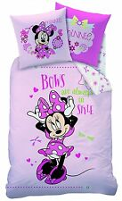 Biber Bettwäsche Disney Minnie Mouse 80 x 80 cm / 135 x 200 cm Flanell