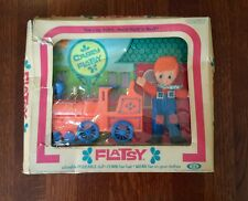 Doll Ideal Flatsy Casey With Train No Hat In Torn Box 1973