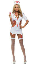 Aimerfeel womans fancy dress nurses outfit white and red size 8-12