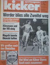 Kicker 1988 , Nr.15 , Werder Bremen ,  VfL Bochum