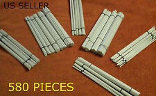MEGA LOT 580 PIECE STRUCURAL STYRENE TUBES, BARS, RODS, AND PIPES.