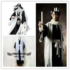 Bleach Cosplay Costumes 6th Division Captain くちき びゃくや Kuchiki Byakuya suit set