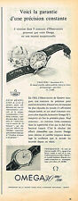 PUBLICITE ADVERTISING 114  1957  OMEGA  montres TROUVERE & TROUBADOUR