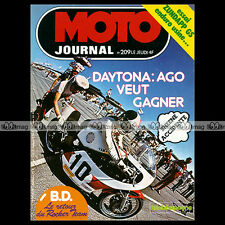 MOTO JOURNAL N°209 AGOSTINI CROSS SUZUKI 370 GP ROGER DE COSTER DAYTONA '75