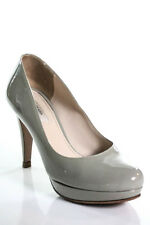 Prada Gray Patent Leather Round Toe Classic Pumps Size 36 6