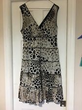 Style&co Brown Tiered Dress Animal Print Large