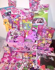 My Little Pony FIM 33 Item Storage Basket Gift Set! LOT Activites Figures Plush