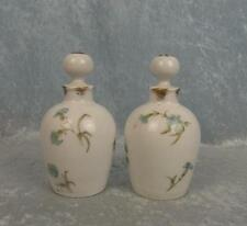Circa 1890 Pair Of Limoges Porcelain Scent Bottles