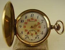 Antiguedad druso salto tapa reloj de bolsillo dorado para 1920