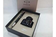 Parker IM Premium Matte Black Chrome Trim Fountain Pen