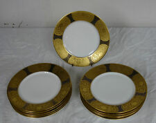 11 Antique Hutschenreuther Selb Bavaria LHS Gold Encrusted Dinner Plates HUT3025