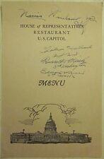 Original House of Representatives Restaurant U.S. Capitol MENU April 26, 1952 AU